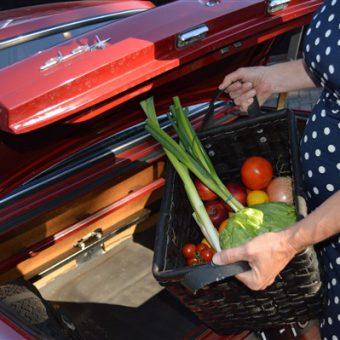 Toeren met de Daf en onderweg ingrediënten kopen om samen een heerlijke maaltijd te bereiden in de kookstudio.
