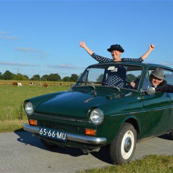 Moederdag uitje met de Daf op het Drentse platteland.