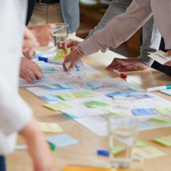 Teambuilding met Miro, online post-its plakken - Drenthe