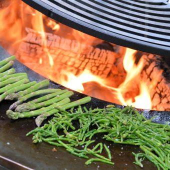 Outdoor cooking op de Ofyr; samen buiten koken in hartje Drenthe.