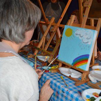 schilderworkshop 15 - Het Drents Kwartiertje - Solex Huren / Rijden - Dafje Huren / Rijden - Groepsactiviteiten, workshops, teambuilding en trainingen Drenthe