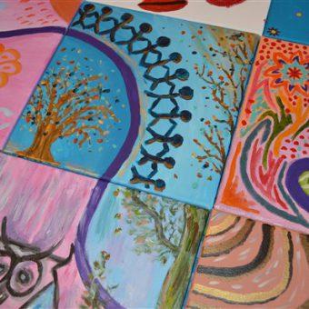 Workshop schilderen bij het Drents kwartiertje.