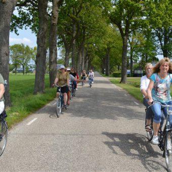 Fietstocht op de tandem bij Assen. Hartje Drenthe verkennen op de tandem.